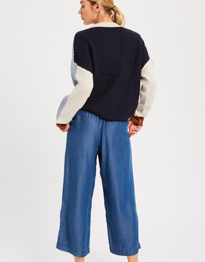 Colorblock Pullover Sweater