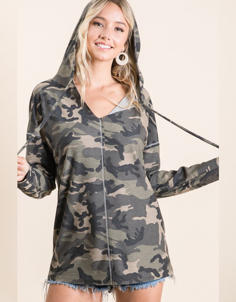 Camouflage French Terry Hoodie