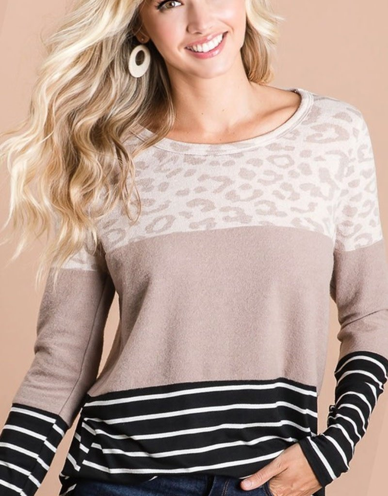 Leopard Top With Material Block