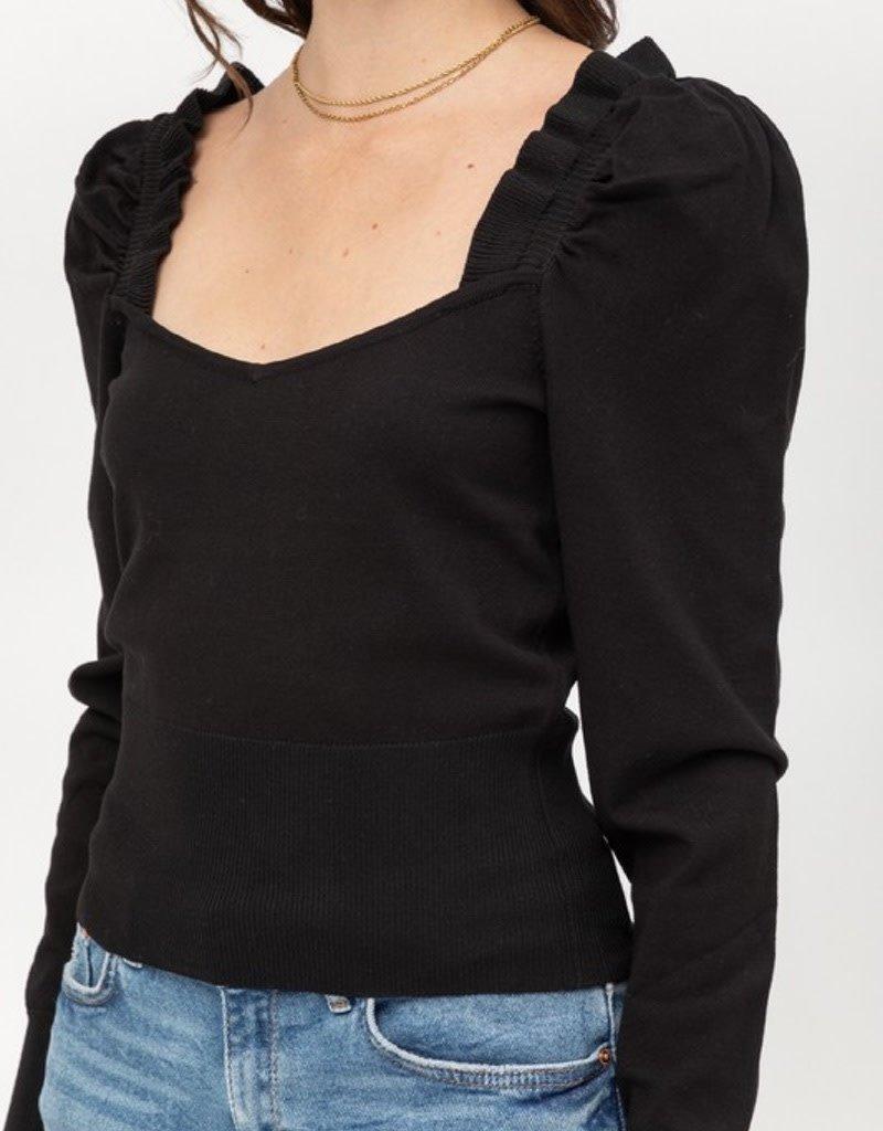 Fine Yarn Sweater Top