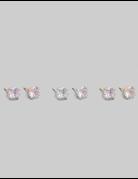 Crystal Rhinestone Stud Earrings Set