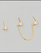 Chain Stud Earrings Set