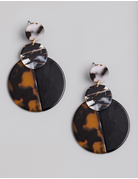 Acetate Circle Drop Earrings