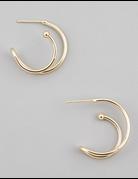 Mini Metallic Hoop Stud Earrings