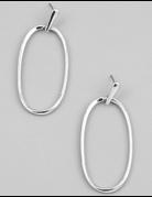 Oval Hoop Drop Earrings