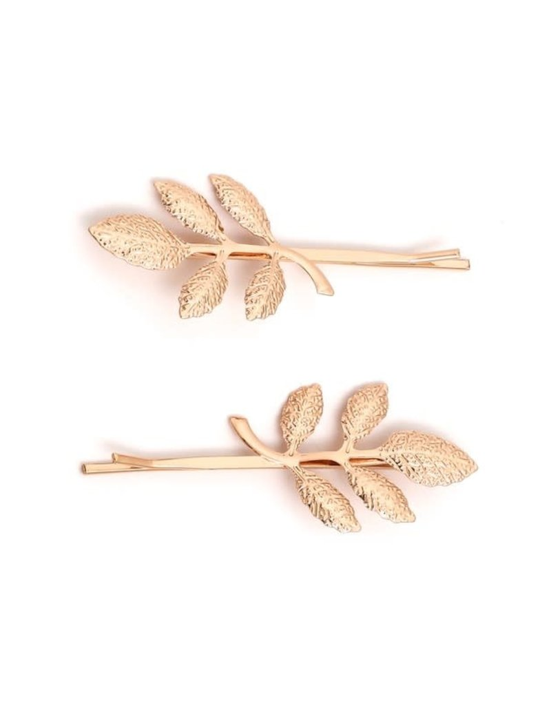 Metal Leaf Hair Pin Set
