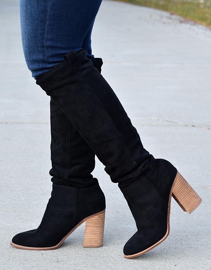 Box Cut Block Heel Boot
