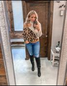 Leopard Turtleneck Sweater