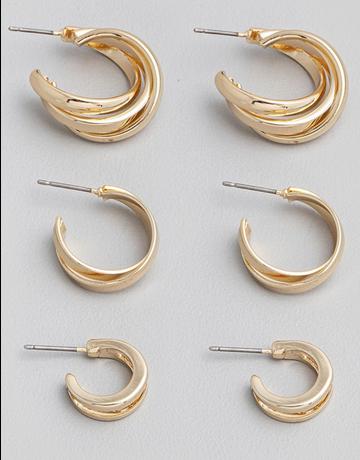 Mini Hoop Twist Earring Set