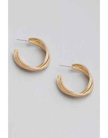 Open Hoop Twist Earrings