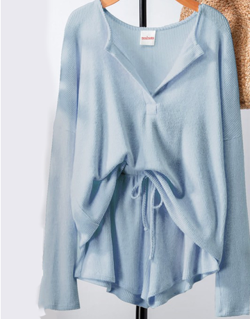 Soft Rib Knit Cozy Shorts
