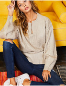 Keyhole Long Sleeve Sweater