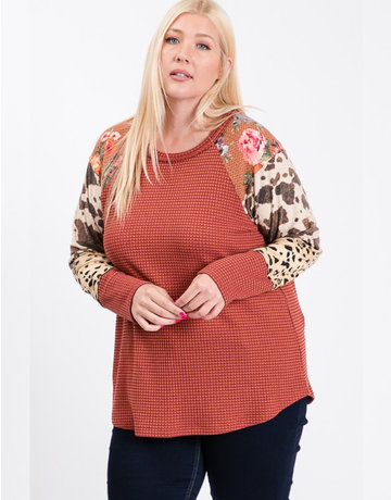 Thermal & Mixed Print Sleeve Top