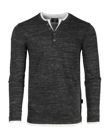 Long Sleeve Double Layered Henley