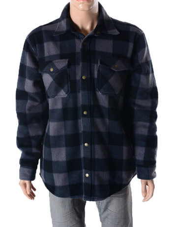 Plaid Fleece With Thermal Lining Jacket