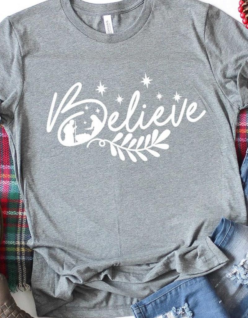 Believe Nativity Graphic Tee