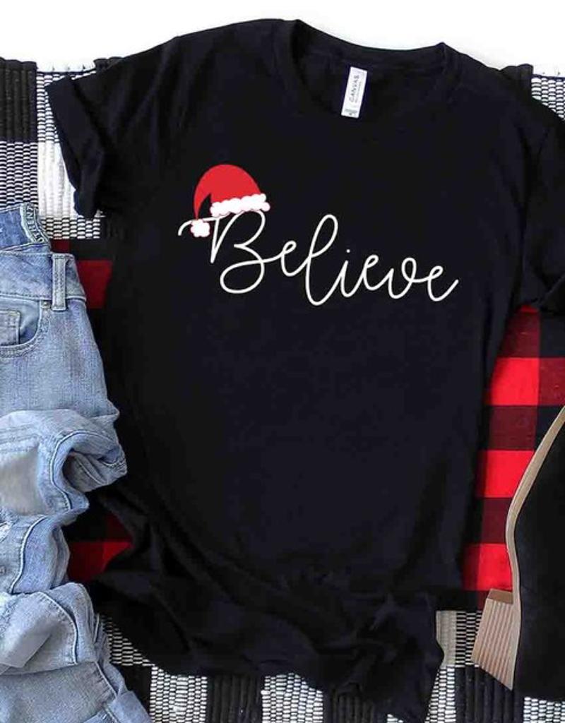 Believe Christmas Graphic Tee