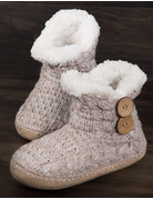 Coconut Button Knitted Slippers