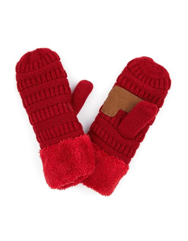 C.C Solid Knitted Mittens - 8 Colors