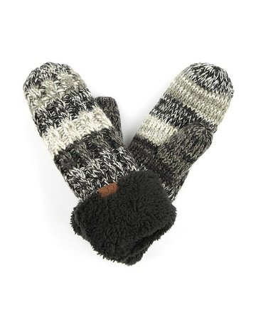 C.C Knitted Gloves - 2 Colors