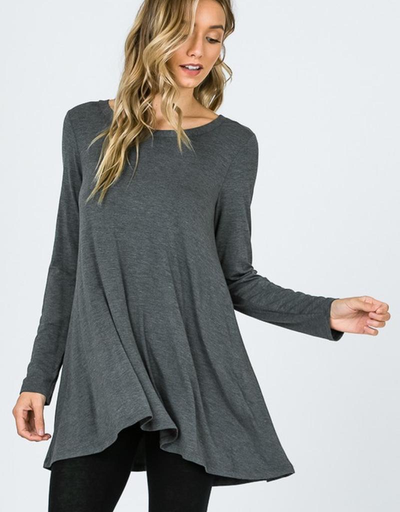 Modal Long Sleeve Flare Long Top