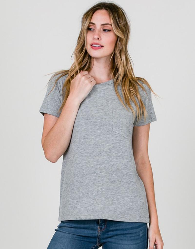 Modal Round Neck Short Sleeve With Pocket
