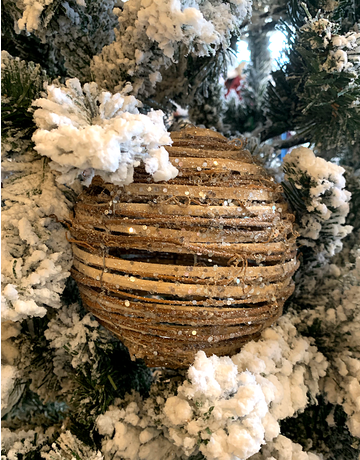 Wood Branch Glitter Balls