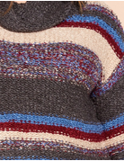 Multi Colored Striped Knit Sweater