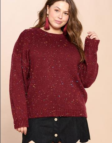 Multi Color Fleck Knit Sweater