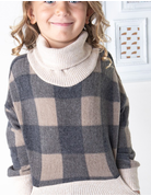 Kids Buffalo Print Sweater Top