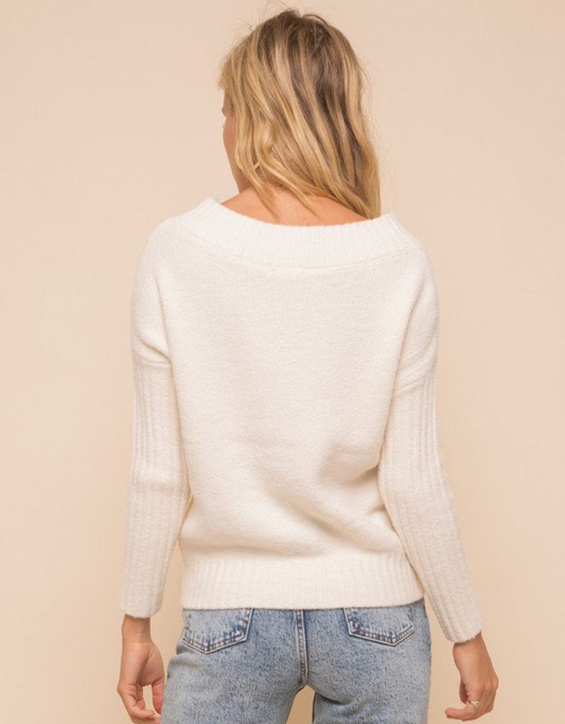 Off The Shoulder Cozy Sweater