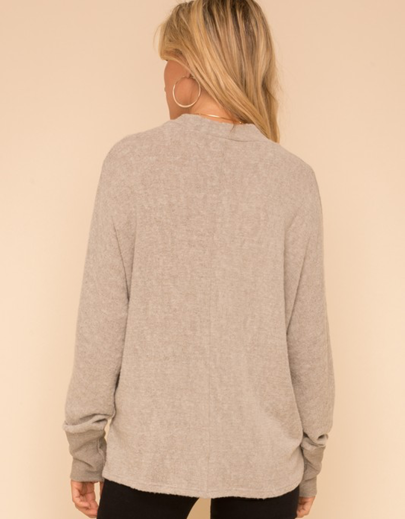 Brushed Hacci Dolman Sleeve Top