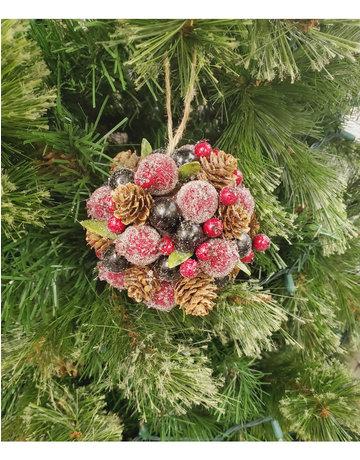 Pine Cone & Berries Ornament