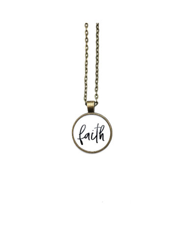 Faith Simply Stated Necklace