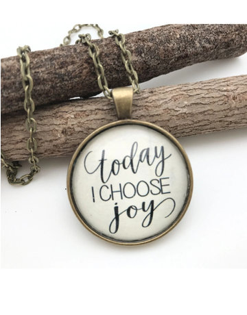 Today I Choose Joy Sentiment Necklace