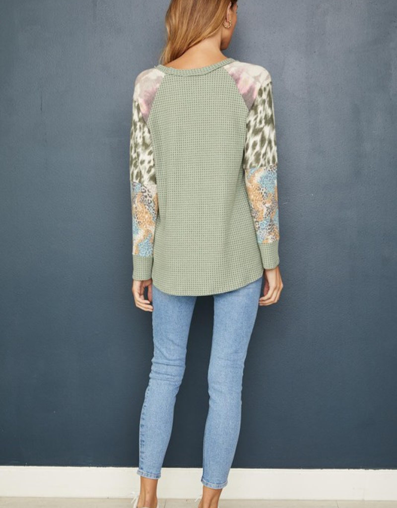 Mix Media Thermal Raglan Body