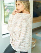 Long Sleeve Print Knit Thick Sweater