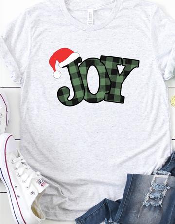 Plaid Joy Graphic Tee