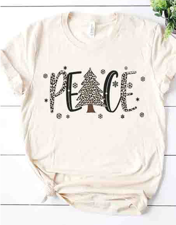 Peace Leopard Graphic Tee