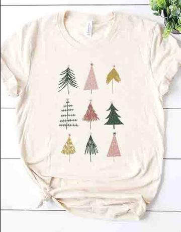 Modern Christmas Tree Graphic Tee