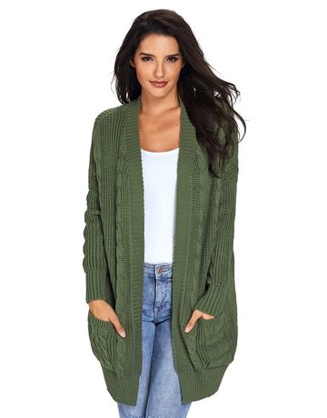 Knit Texture Long Cardigan - 2 Colors
