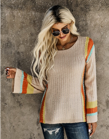 Colorblock Bell Sleeve Sweater