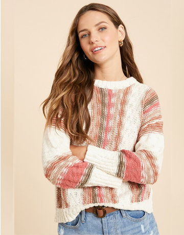 Multicolor Vertical Stripe Sweater