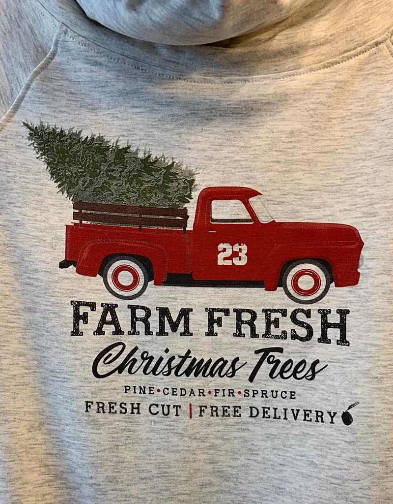 Farm Fresh Christmas Tree Cowl Neck Sweater
