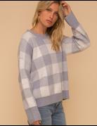Check Sweater Pullover