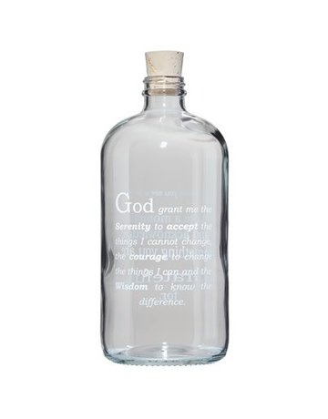 Serenity Prayer Apothecary Jar