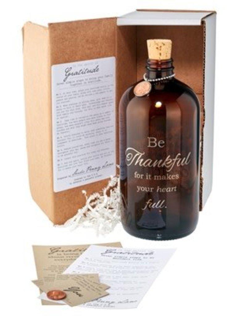 Be Thankful Apothecary Jar