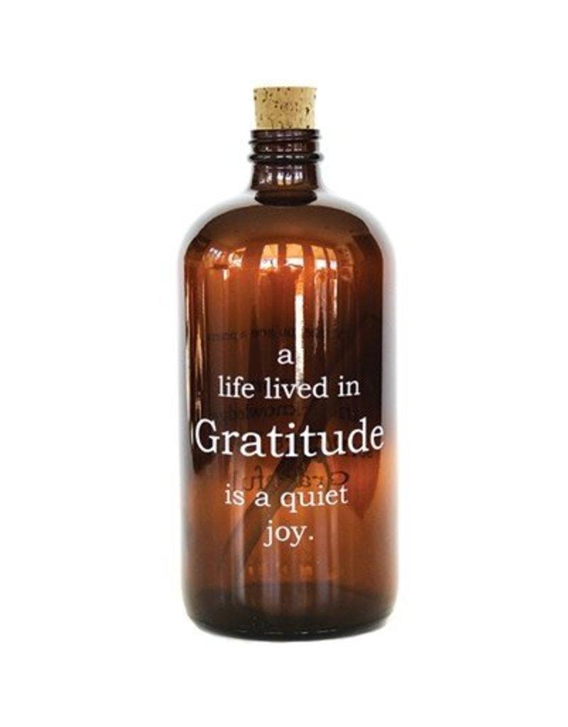 Gratitude Apothecary Jar