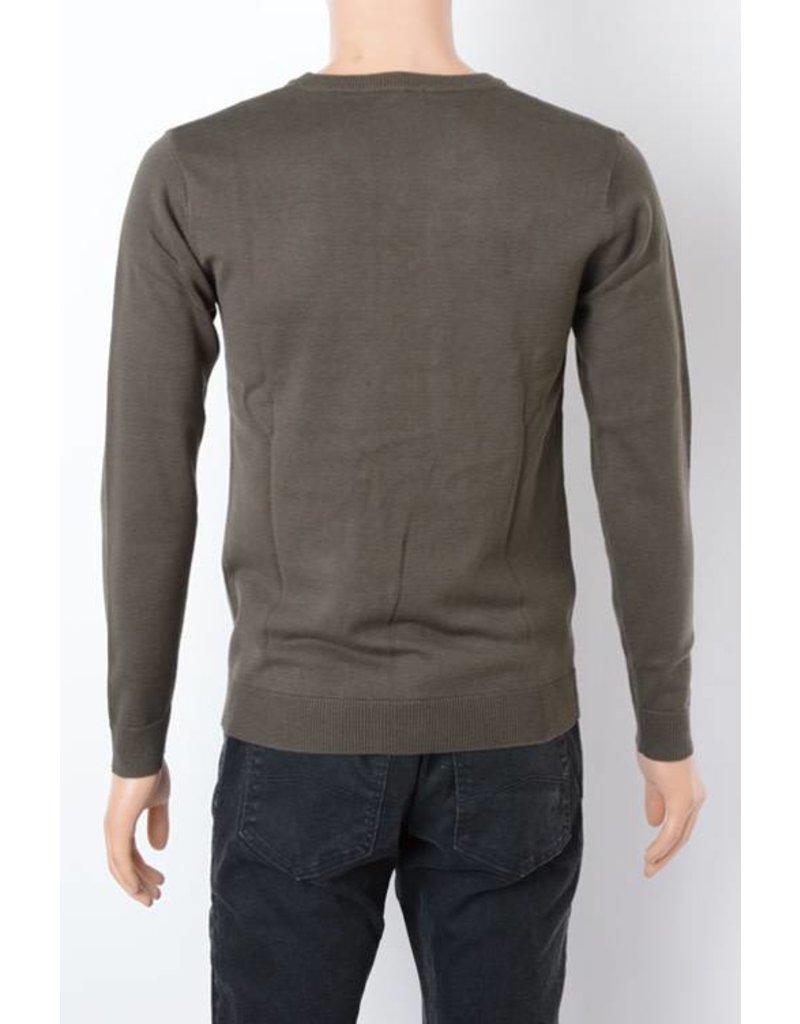 Olive VNeck Sweater