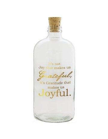 Joyful With Gold Print Apothecary Jar
